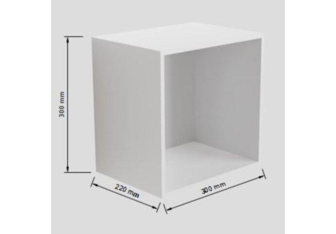 Nis Mondiaz LAGOM 30cm In of Opbouw Mat Wit