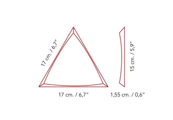 Wandtegel Zyx Triangle Channel White Mat 15x17 cm Mat Zwart