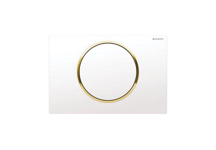 Bedieningsplaat Geberit Sigma 10 Wit met Goud