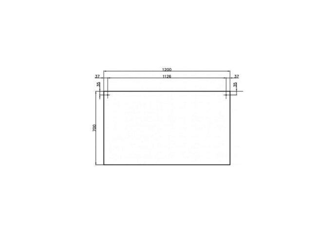 Badkamermeubelset Dekker Pesaro 120x50x45.5 cm Hoogglans Wit