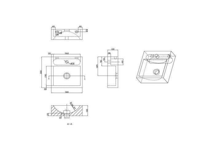 Natuursteen Fontein Square 2.0 30x30x10 cm
