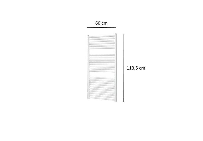 Designradiator Plieger Quadro 627 Watt Zijaansluiting 113,5x60 cm Wit