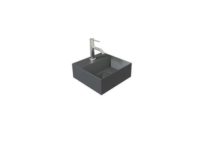 Fontein Salenzi Spy 30x30 cm Mat Antraciet (inclusief bijpassende waste)
