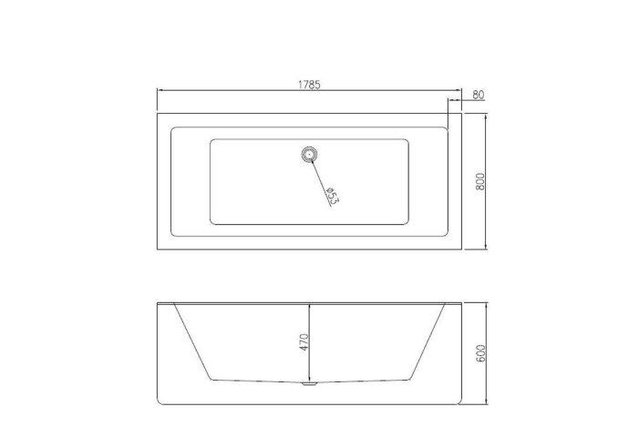 Ligbad Vrijstaand Strack Beste Design 178x80x60cm Wit