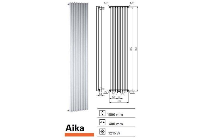 Designradiator Aika 1800 x 400 mm Zilver Metallic