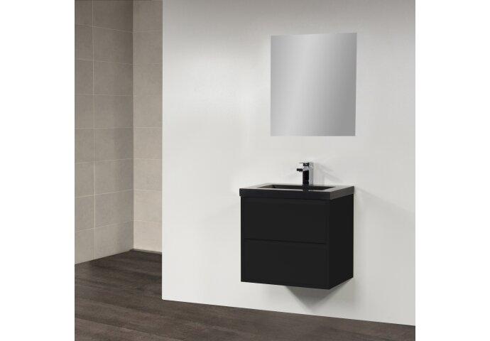 Badkamermeubelset New Future 60cm Hoogglans Zwart