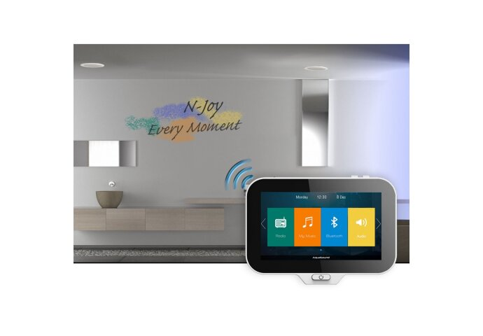 Music Center Aquasound N-Joy Controller (IPX7) + Wand Lader + Mini-Box / 50 Watt