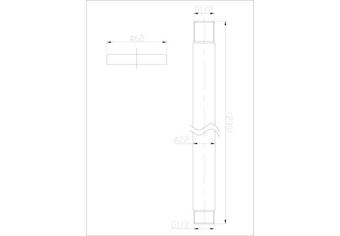 BWS Douchearm Hera Luxe Plafondbevestiging Rond 20 cm RVS