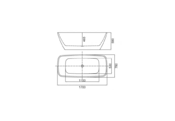 Ligbad Vrijstaand Beste Design Forma 170x78x59cm