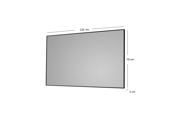 Badkamerspiegel Sanicare Q-Mirrors 120x70x2cm Alu
