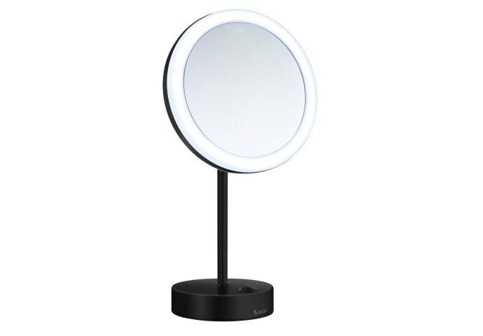 Smedbo Outline 5x Vergrotingsspiegel LED Zwart FK484EB