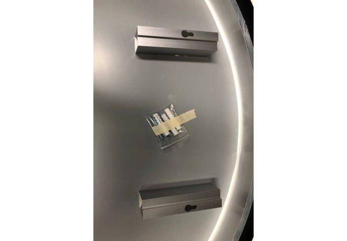 Badkamerspiegel Best Design Venetië Nero LED Verlichting 80x80 cm Rond Mat Zwart