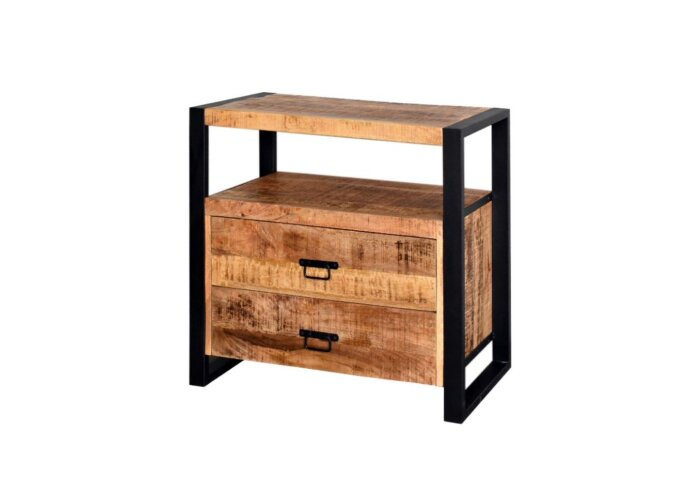 Onderkast Boss & Wessing Mango Wood 60x45x80 cm met Mat Zwart Metaal