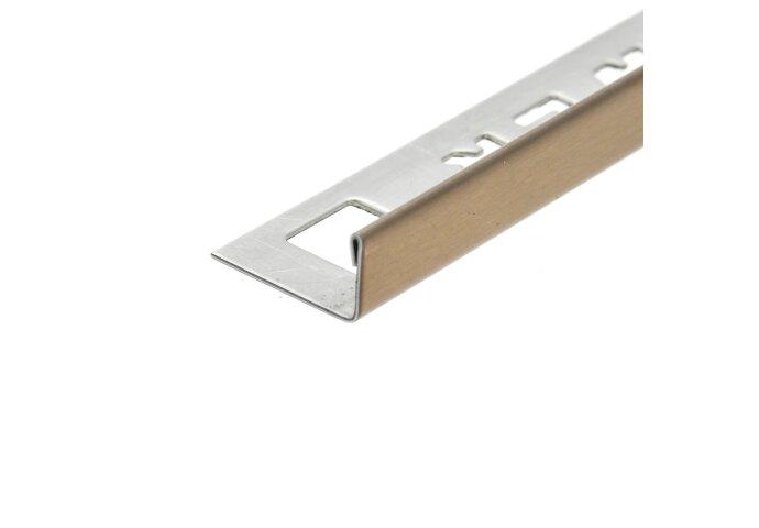 Tegelprofiel Hoekstuk OX-Tools Eltex 11mm RVS Geborsteld Koper
