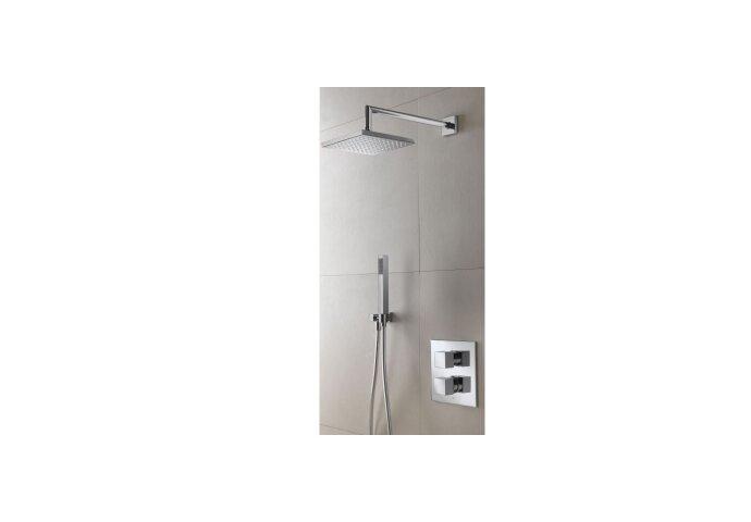Douchekraanset Hotbath IBS 4 Bloke Inbouw Thermostaat 2-weg RVS Look