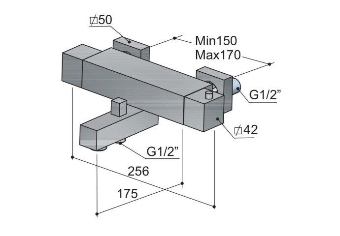 Badthermostaat Hotbath Bloke opbouw omstel RVS Look | Tegeldepot