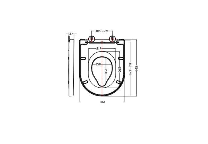 Toiletbril Boss & Wessing Dubbele Zitting Familie Met Softcloset En Quick Release Wit