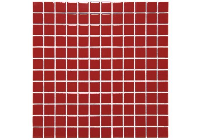 Mozaïektegel The Mosaic Factory Barcelona 23x23 mm Porselein Rood