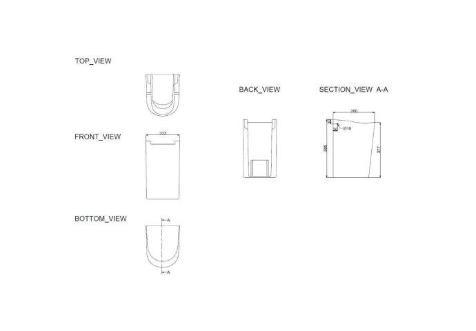 Wiesbaden Fold sifonkap 52cm + ophangset wit