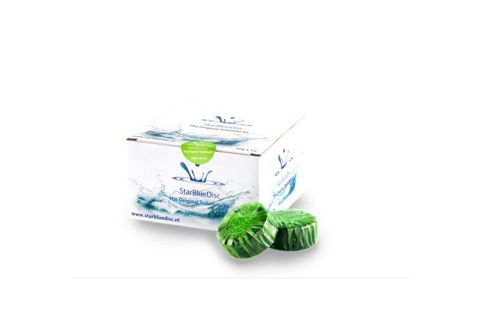 12 Geberit StarBlueDisc Toiletblokjes Groen Halfjaar Verpakking
