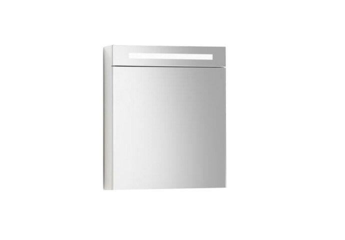 Spiegelkast Sanilux Deluxe 58x70x16cm met TL verlichting en stopcontact Hoogglans Wit Links