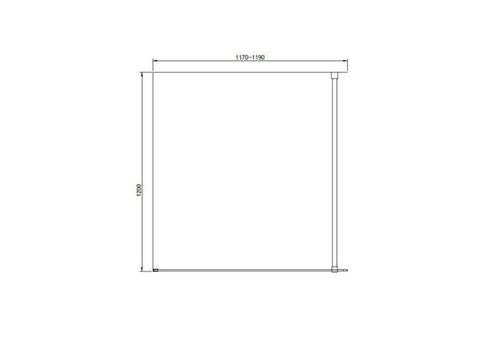 Douchewand Van Rijn ST04 Helder Glas 8 mm Aluminium Profiel Zwart 120x200 cm