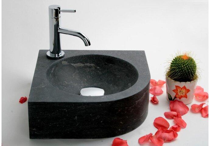 FonteinPack Rondo hardsteen 30x30x10cm (Keuze uit 18 kranen)