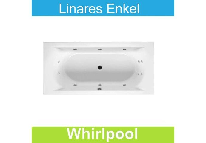Whirlpool Riho Linares 190x90 cm Mat Wit Enkel systeem
