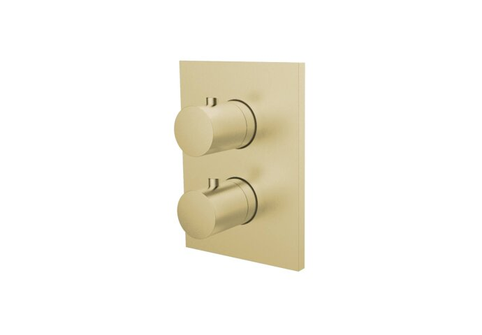 Inbouw Douchekraan Herzbach Design IX Thermostatisch PVD-Coating Messing Goud