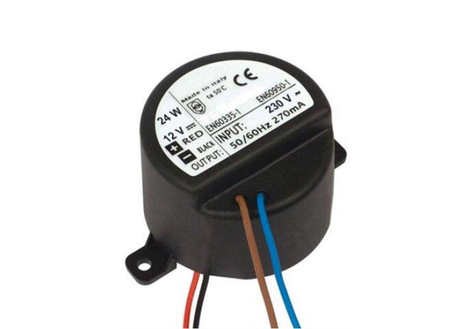 Mini inbouw adapter Aquasound t.b.v. Sound-Bar 5.5 cm rond (24W /12V)