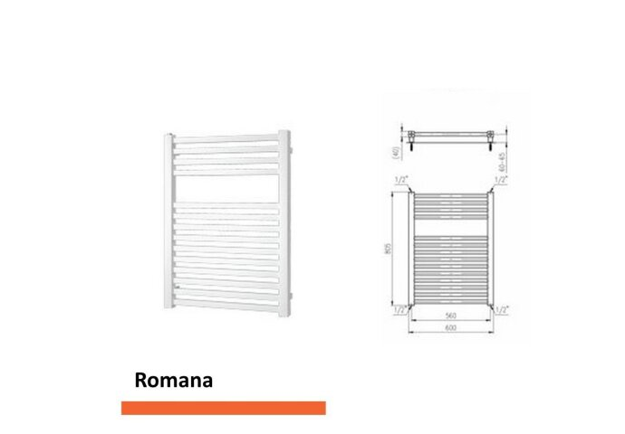 Designradiator Boss & Wessing Romana 805 x 600 mm  | Tegeldepot.nl