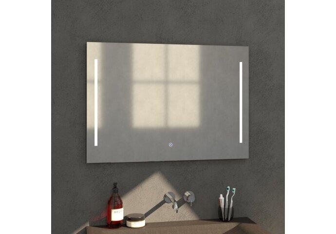 Badkamerspiegel met LED Verlichting Sanitop Deline 99x70x3 cm