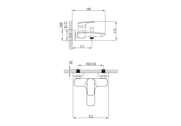 Opbouw Badkraan Sapho Timea Mengkraan 1-hendel 11.7 cm Chroom