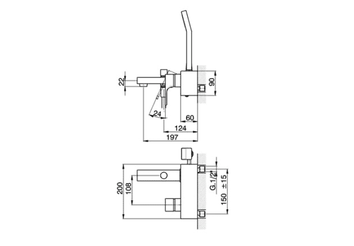 Cisal Cubic Badmengkraan chroom CU00013021