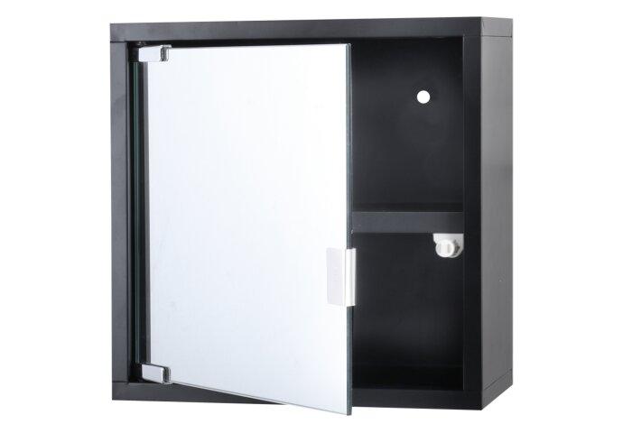 Differenz Quardo kubuskast 30 x 30 x 12 cm Met Spiegel - Zwart