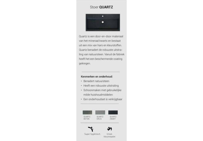INK Versus Fonteinpack Quartz Fontein Grijs Inclusief Kraan Rechts Chroom Sifon En Plug 36x18x9 cm