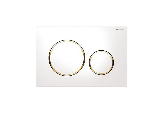 Bedieningsplaat Geberit Sigma 20 DF Wit met goud
