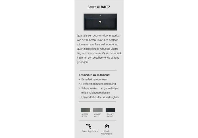 INK Versus Fonteinpack Quartz Fontein Zwart Inclusief Kraan Rechts Chroom Sifon En Plug 36x18x9 cm