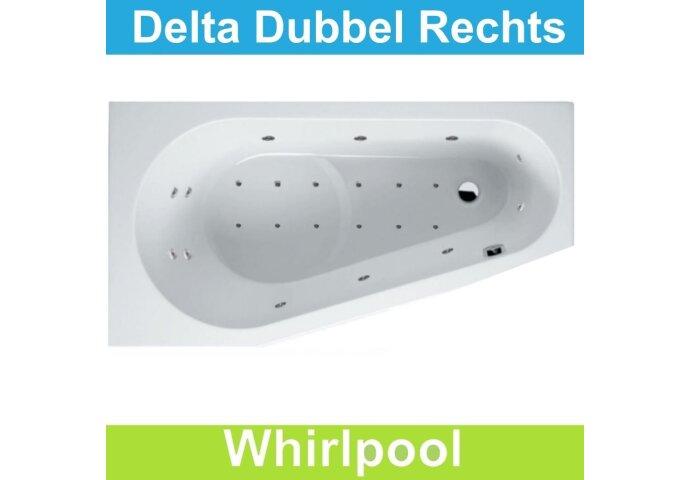 Ligbad Riho Delta Rechts 150 x 80 cm Whirlpool Dubbel systeem