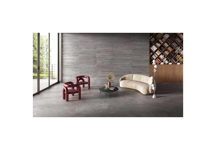 Vloer- en Wandtegel Vtwonen Raw 60x60 cm Donkergrijs (Doosinhoud: 1,08 m²)