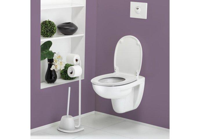 Toiletborstelhouder Set Allibert Allistock-Easy Vrijstaand Gelakt Wit