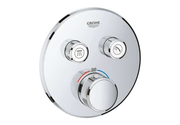 Douchethermostaat Grohe Grohtherm Smartcontrol Afdekset met Omstel Rond Chroom