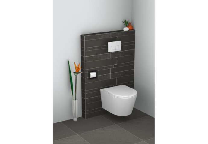 Inbouw Toiletrolhouder Wiesbaden Mat Zwart
