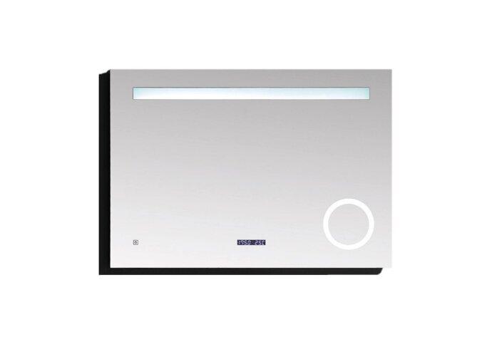 Badkamerspiegel Best Design Linet LED Verlichting 100x70 cm met Klok en Vergroting