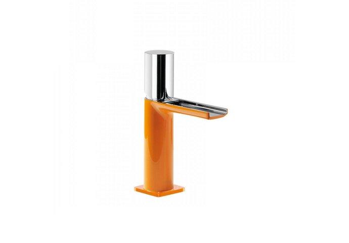 Wastafelmengkraan Tres Loft Colors 1-knop Waterval Uitloop 10.4 cm Rond Oranje Chroom