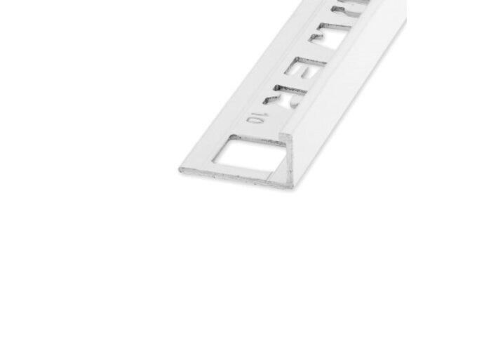 Tegelprofiel ELTEX Recht Alu 11 x 2700 mm Wit