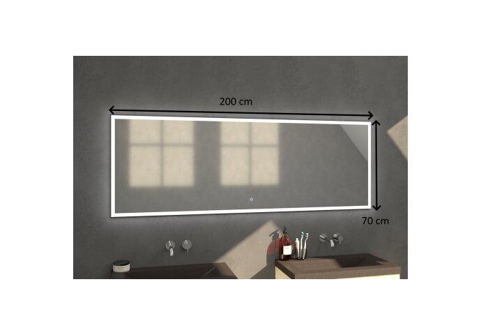 Badkamerspiegel met LED Verlichting Sanitop Edge 200x70x3 cm