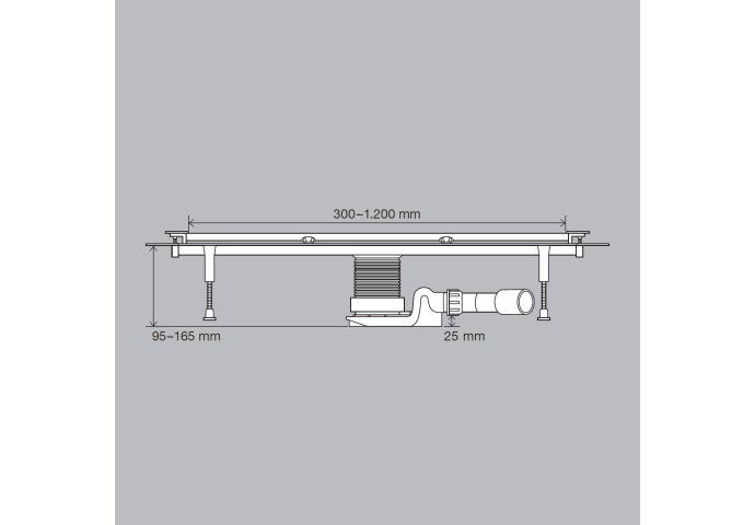 Rooster Viega Advantix Vario Insteekrooster RVS Geborsteld 30 cm SR-1 Inkortbaar