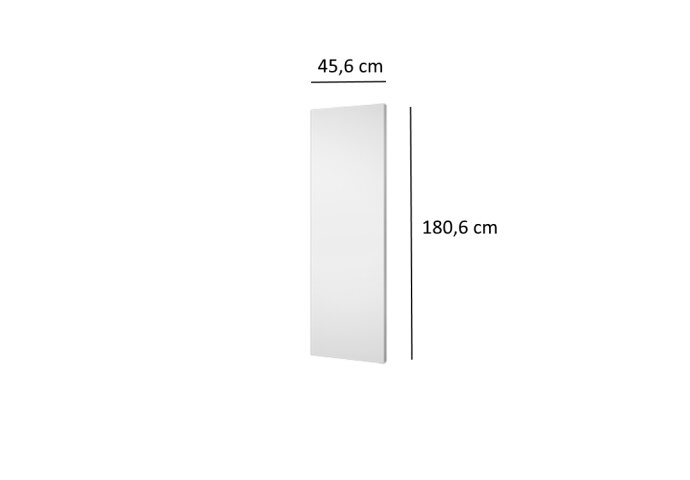 Designradiator Plieger Perugia 802 Watt Middenaansluiting 180,6x45,6 cm Wit