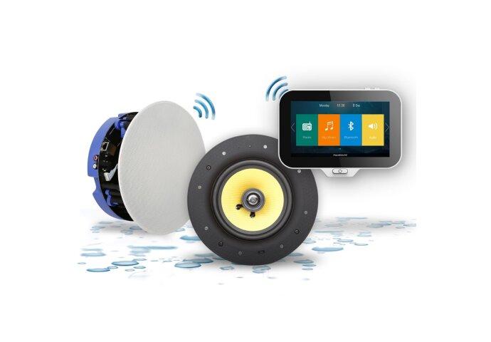 Music Center Aquasound N-Joy Controller + Wandlader+ Move Speakerset (70 Watt)